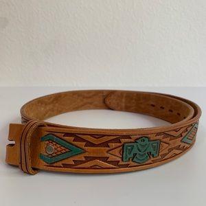 Vintage Chambers Thunderbird Leather Belt